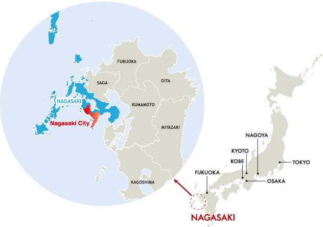 Nagasaki On World Map.Welcome Visit Nagasaki